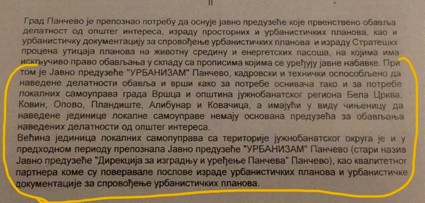 Vršac odluka Skupštine grada isečak 2