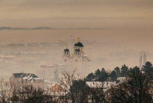 зимски поглед на Ваљево