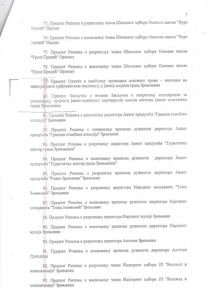 Zrenjanin III sednica -5