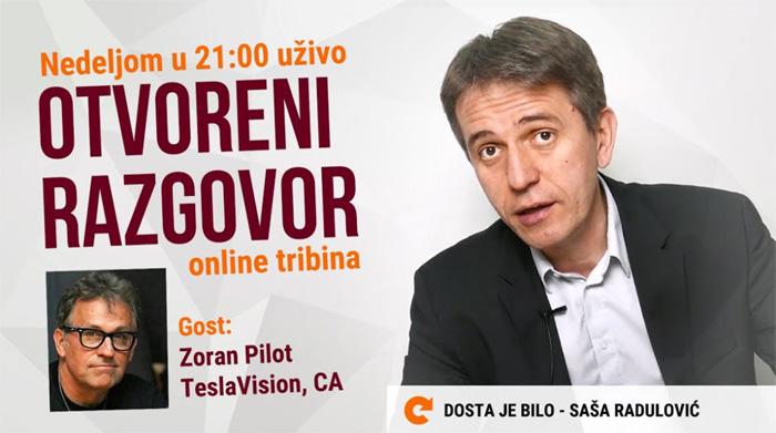Online tribina Saša Radulović i Zoran Pilot